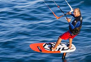 hydrofoil kite lessons sardinia school